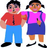 Spot image of two latino children from poems to dream together by francisco alarcon