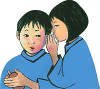 Spot image of two asian children from the east-west house by christy hale