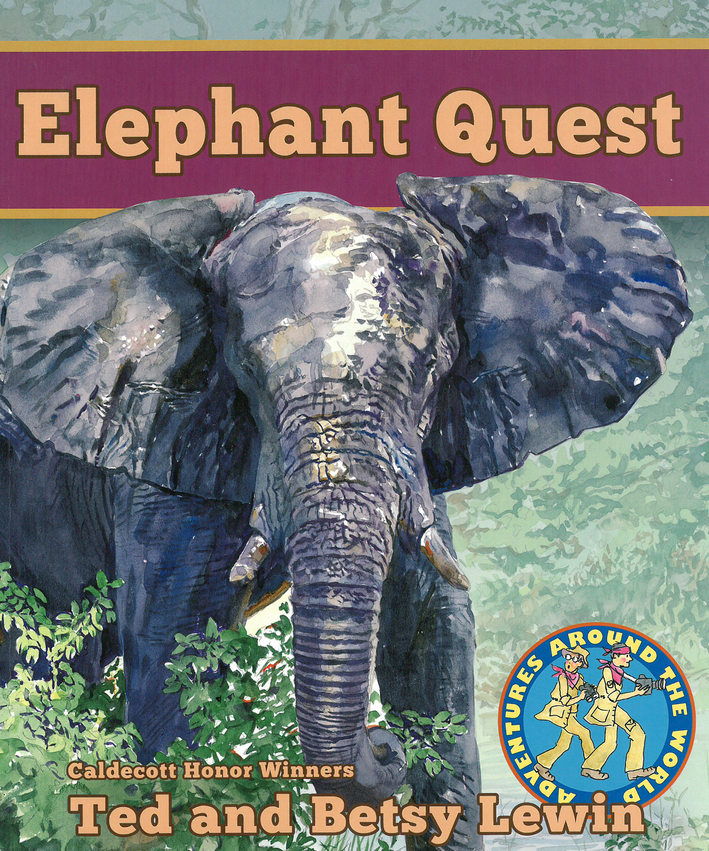 Illustrated Book Cover Quest : Elephants africa botswana zoology lee low books