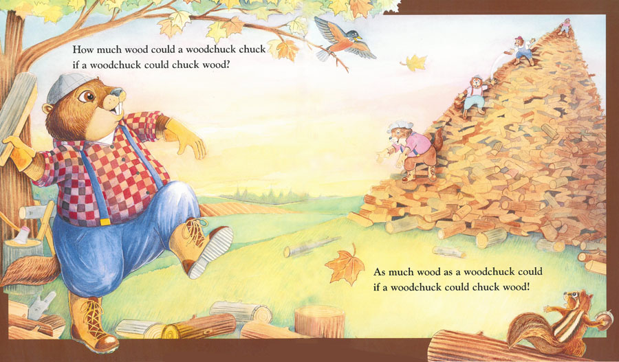 How Much Wood Could a Woodchuck Chuck? | Picture Book ...