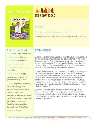 Teacher S Guide Honda Lee Low Books